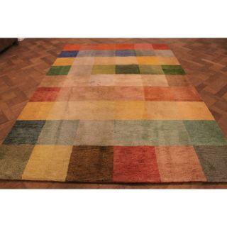 Wunderschöner Dekorativer Handgeknüpfter Orientteppich Felder Gabbeh 195x295cm Bild