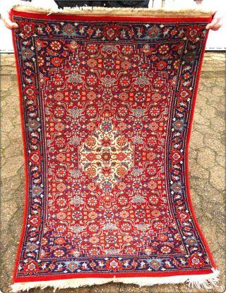 HandgeknÜpfter Orientteppich Persien Teppich LÄufer BrÜcke 126 X 75 Cm Bild