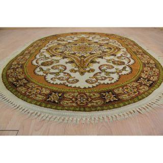 Schöner Ovaler Gewebter Orientteppich Blumen Teppich Schurwolle 200x145cm 246 Bild
