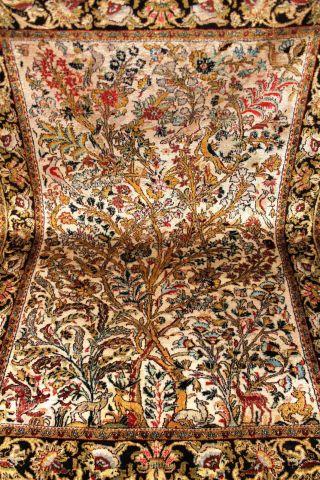 Feiner Perser Seidenteppich Lebensbaum