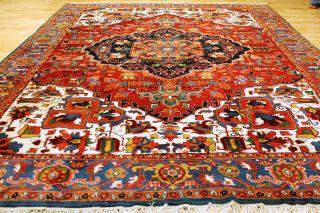 Schöner Alter Heriz 340x250cm Orient Teppich Galerie 3676 Rug Carpet Tappeto Bild