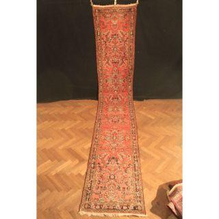 Antiker Prachtvoller Handgeknüpfter Perser Orient Teppich Us Sa Rug 90x500cm Bild
