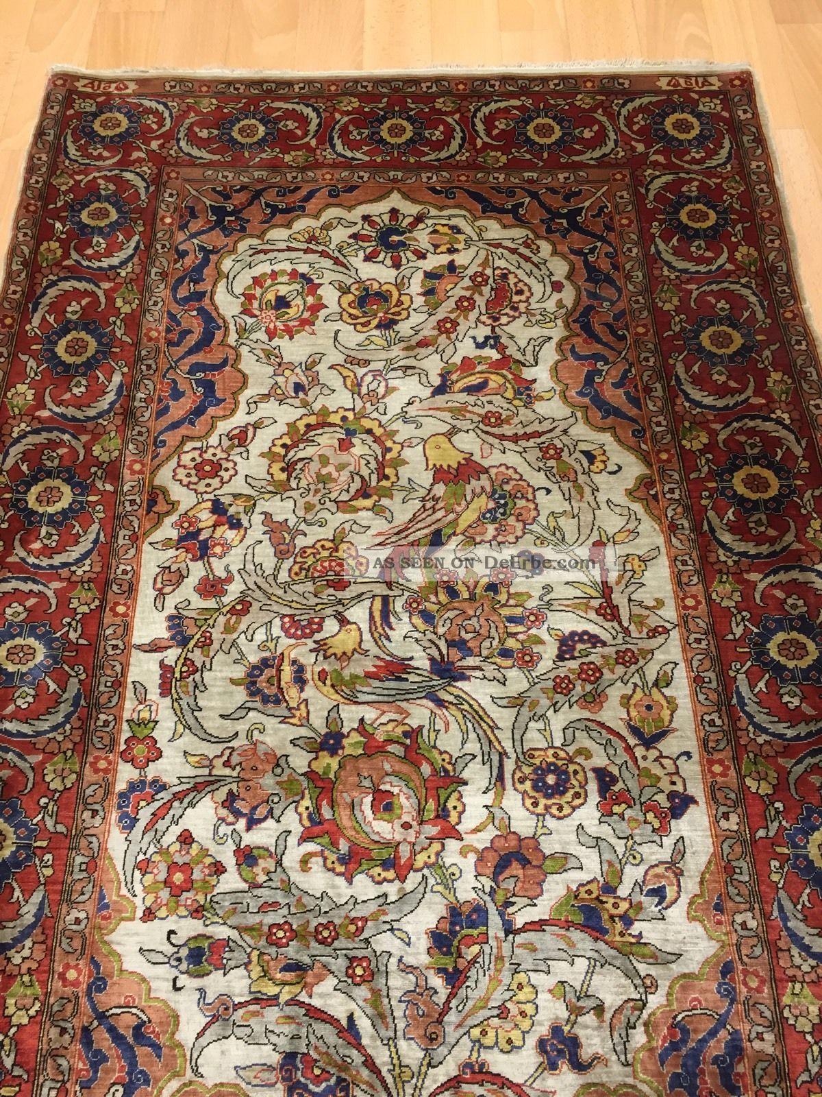 Orientteppich antik  Orientteppich, Rug, Hereke Seide Auf Seide Antik 110x75 Signierung ...