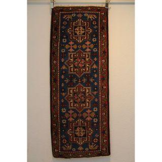 Alter Feiner Handgeknüpfter Orientteppich Kazak Kasak 60x150cm Tappeto Rug 242 Bild