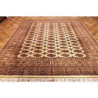 Prachtvoller Handgeknüpfter Perser Orientteppich Buchara Jomut 240x300cm Tappeto Bild