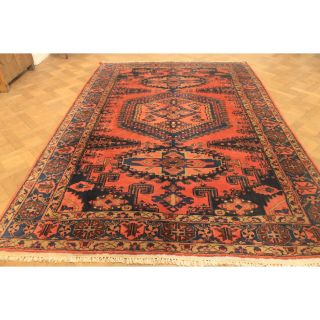 Wirkungsvoller Alter Handgeknüpfter Orient Perser Teppich Viss Wiss 220x330cm Bild