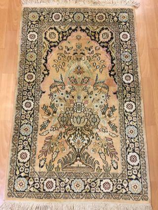 Orientteppich,  Teppich,  Rug,  Kashmir Seide 125x78 Bild