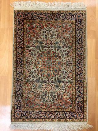 Orientteppich,  Teppich,  Rug,  Kashmir Seide 90x60 Bild