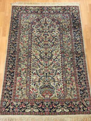 Orientteppich,  Pers.  Teppich,  Rug,  Wandteppich Mit Viel Seide 180x123 Bild
