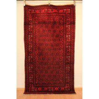 Schöner Alter Handgeknüpfter Orientteppich Belutsch Old Rug 210x115cm Afghan 238 Bild