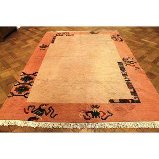Wunderschöner Dekorativer Handgeknüpfter Designer Teppich Nepal Tibet 205x290cm Bild