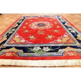 Prachtvoller Handgeknüpfter China Art Deco Drachen Teppich Tappeto 170x240cm Bild