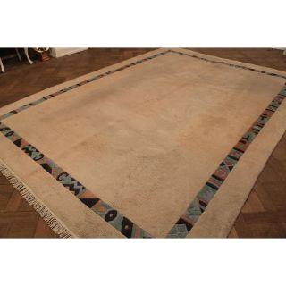 Schöner Dekorativer Handgeknüpfter Orientteppich Nepal Uni Tappeto 255x355cm Bild