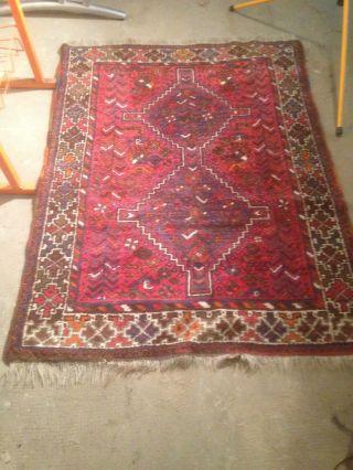 Antiker Echter Teppich Perser Läufer Brücke Orient Handgeknüpft Rot Bild