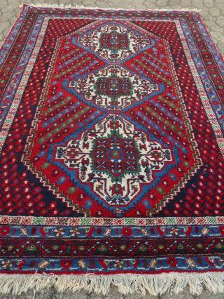 HandgeknÜpfter Orientteppich Persien Teppich LÄufer BrÜcke 204 X 147 Cm Bild
