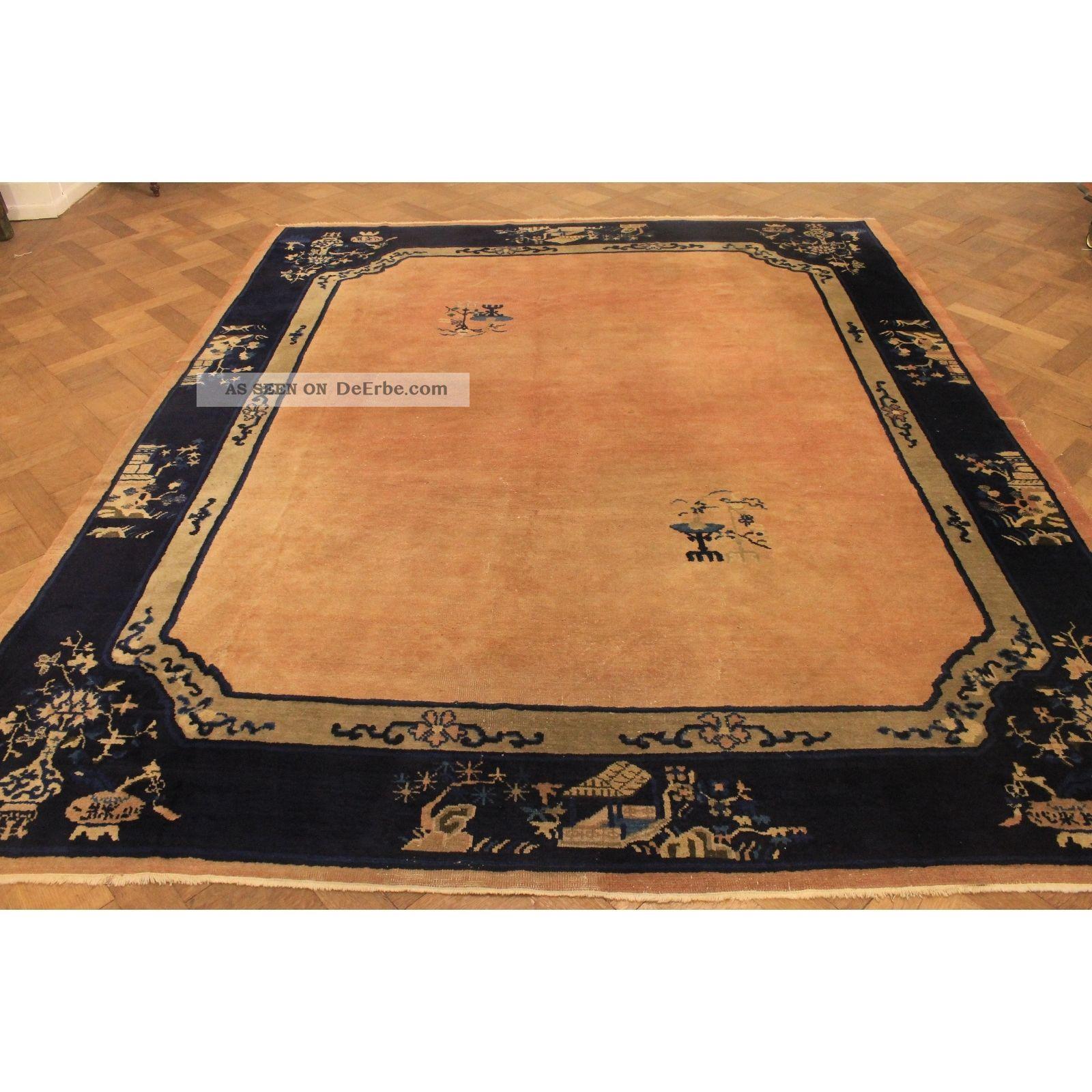 Wundersch ner antiker handgekn pfter china art deco orient - Art deco teppich ...