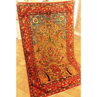 Einzigartiger Antiker Handgeknüpfter Orient Perser Teppich Lebensbaum 140x235cm Bild