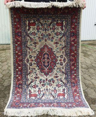 HandgeknÜpfter Orient - Teppich Persien LÄufer BrÜcke 126 X 77 SammlerstÜck Bild