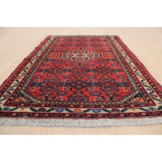 Schöner Alter Handgeknüpfter Perser Orientteppich Herati 65x100cm Tappeto 228 Bild