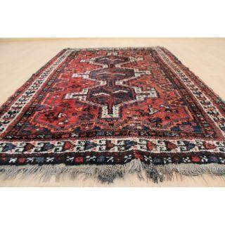 Alter Feiner Handgeknüpfter Orientteppich Kazak Pflanzenfarben 105x155cm 227 Bild