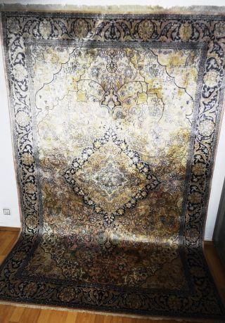 Königlicher Handgeknüpfter Kaschmirseide Palast Teppich Rug Tappeto Tapies,  Silk Bild