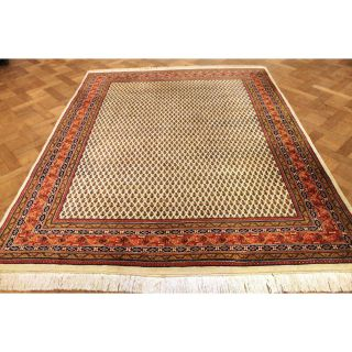 Prachtvoller Handgeknüpfter Orient Palast Teppich Sa Rug Mir 205x250cm Carpet Bild