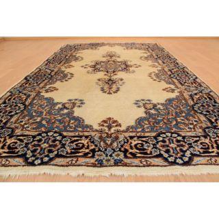 Königlicher Handgeknüpfter Orientteppich Blumen Spiegel Teppich 125x210cm 224 Bild