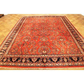 Prachtvoller Handgeknüpfter Orient Perser Us Sa Rug Blumen Teppich 260x330cm Bild