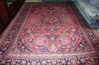 Großer Teppich Sehr Fein Top Alt Handgeknüpft Echter Orientteppich Kescha Bild