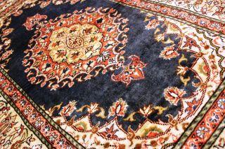 Antiker Seidenteppich Kayseri Seide Teppich Gebetsmotiv Top Silk Seta 139x90cm Bild
