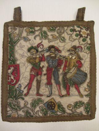 Alter Gobelin Wandteppich - Motiv: Musiker Bild