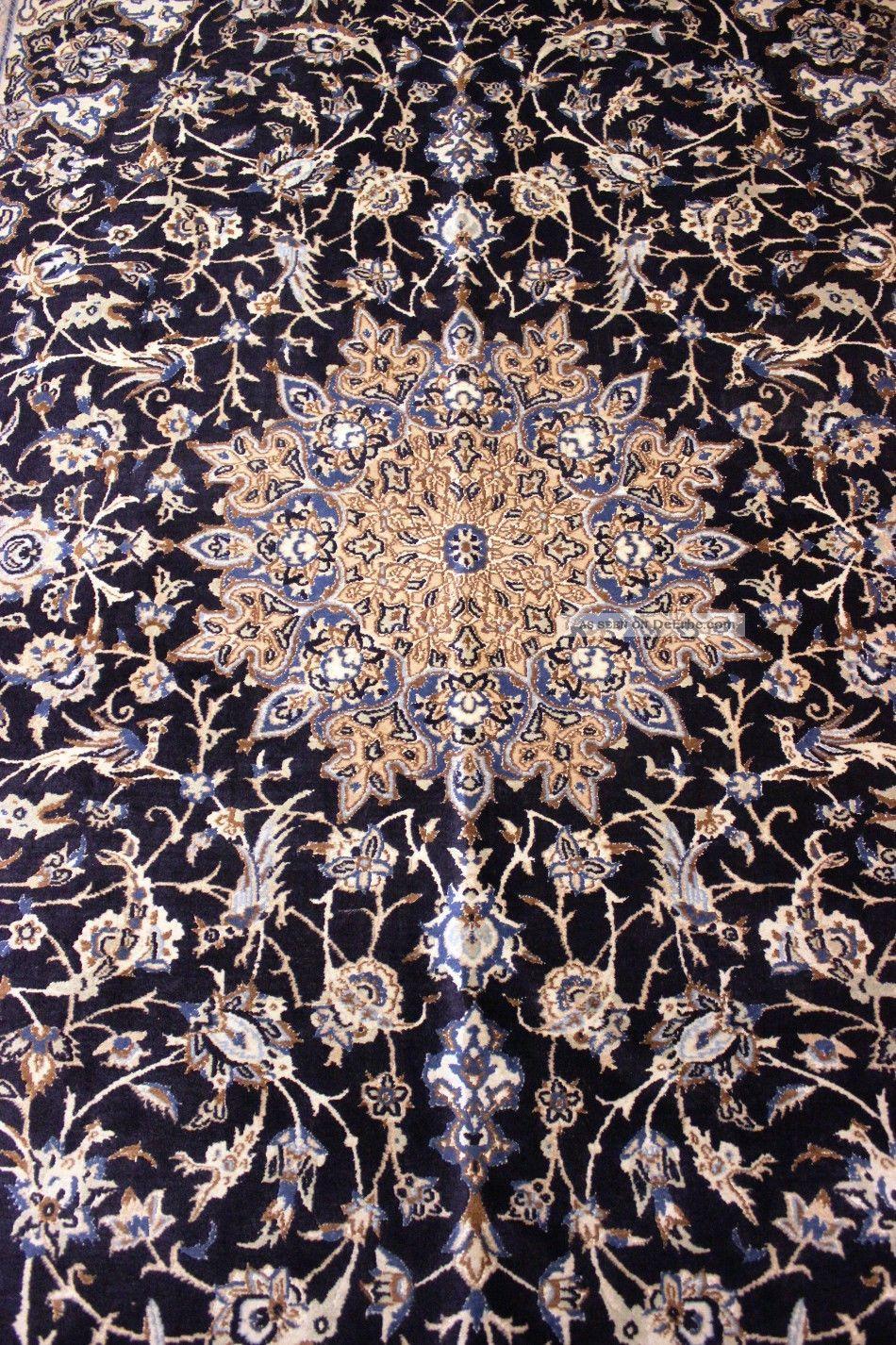 k niglicher 9la habibian nain m seide tiermotive bilder orient teppich 300x200cm. Black Bedroom Furniture Sets. Home Design Ideas