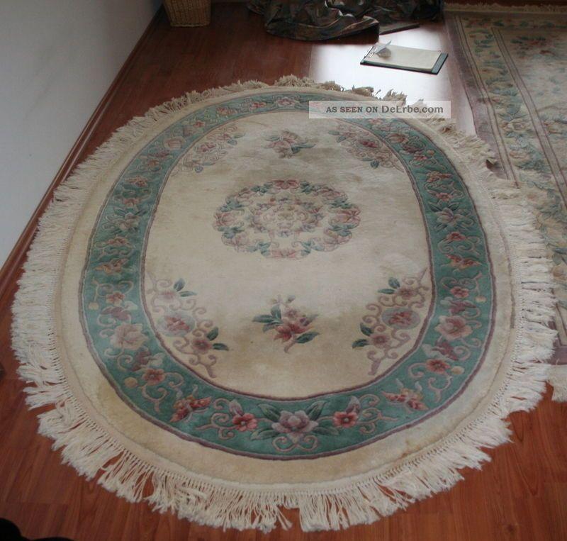 oval sch ner china teppich aus gepflegtem haushalt. Black Bedroom Furniture Sets. Home Design Ideas