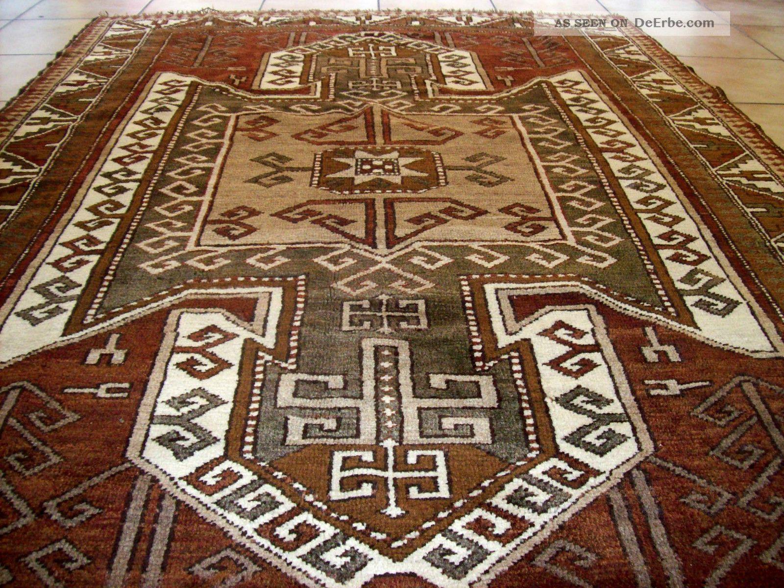 sehr sch ne teppich kazak kars schild muster top zusta 220 x 150. Black Bedroom Furniture Sets. Home Design Ideas