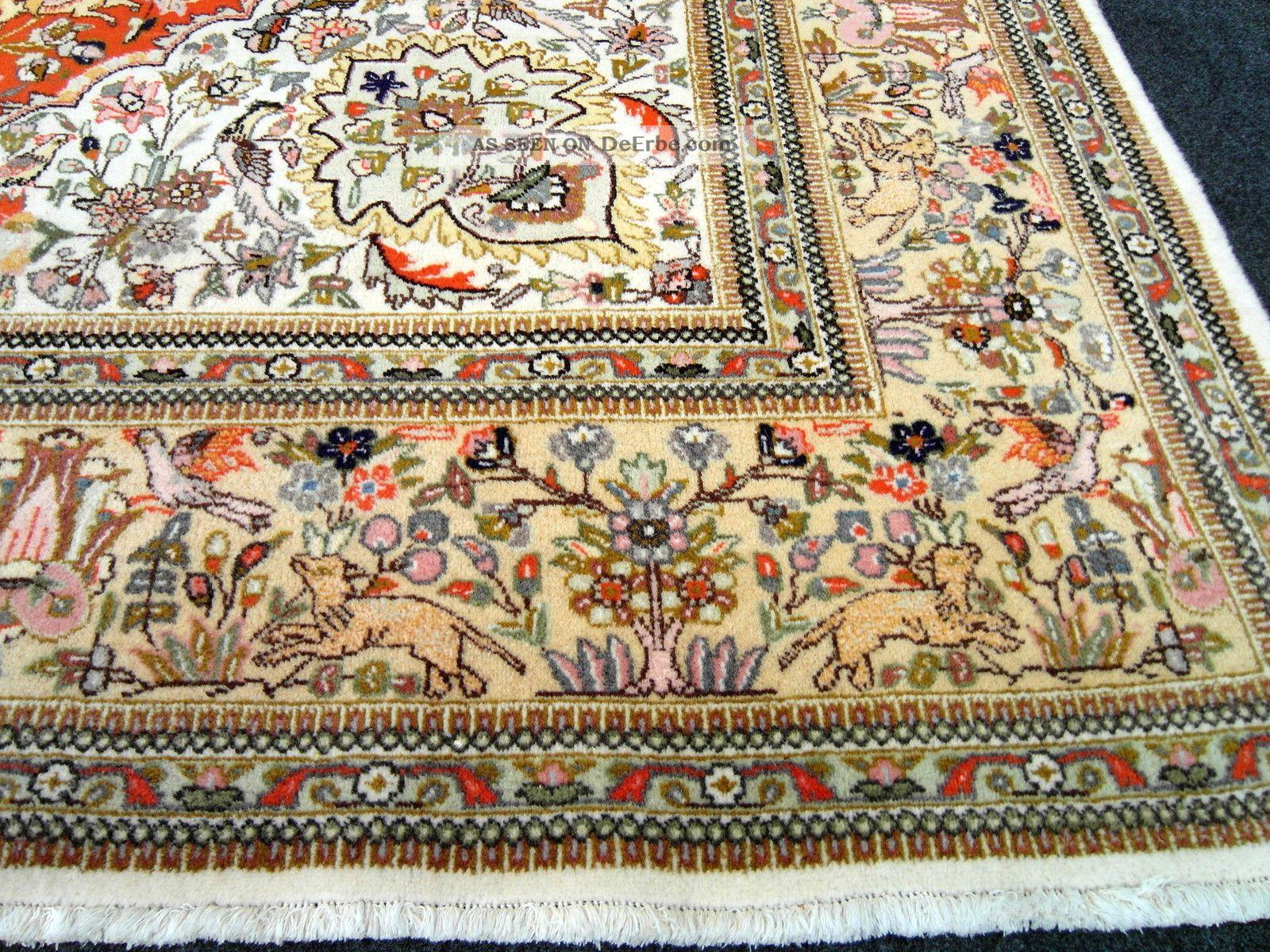 Orient Teppich Beige Jagdmuster 370 X 280 Cm Alter