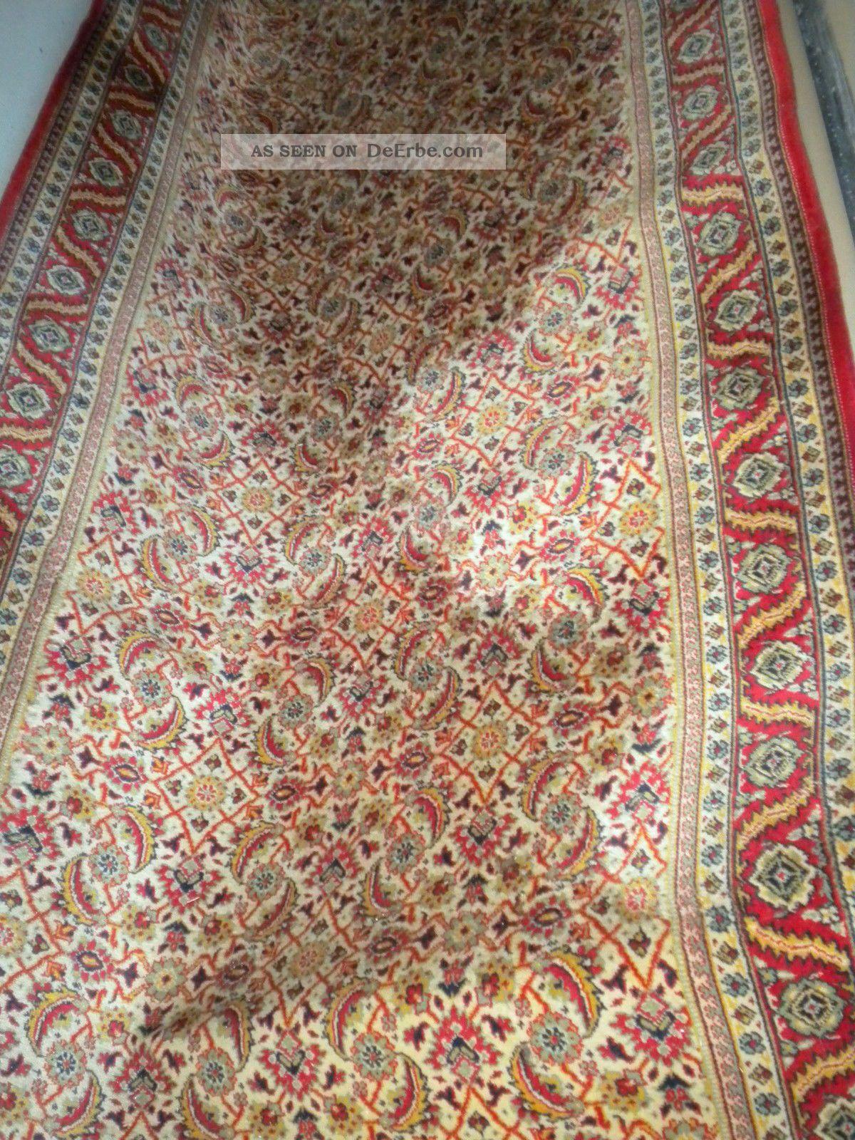 shabby chic vintage teppich antiker langer l ufer carpet 125 cm x 425 cm. Black Bedroom Furniture Sets. Home Design Ideas