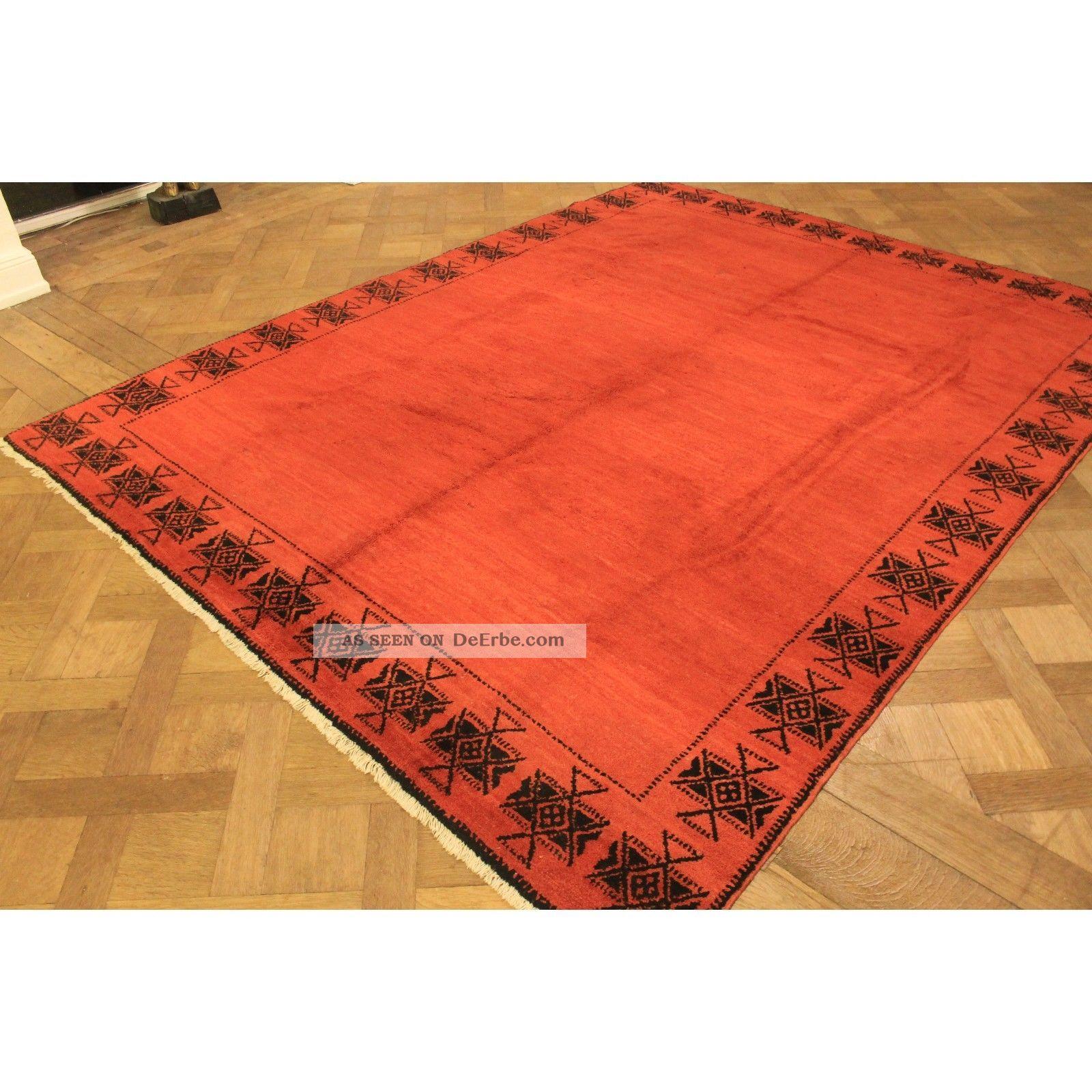 dekorativer handgekn pfter 70er jahre designer teppich berber tappeto 220x290cm. Black Bedroom Furniture Sets. Home Design Ideas
