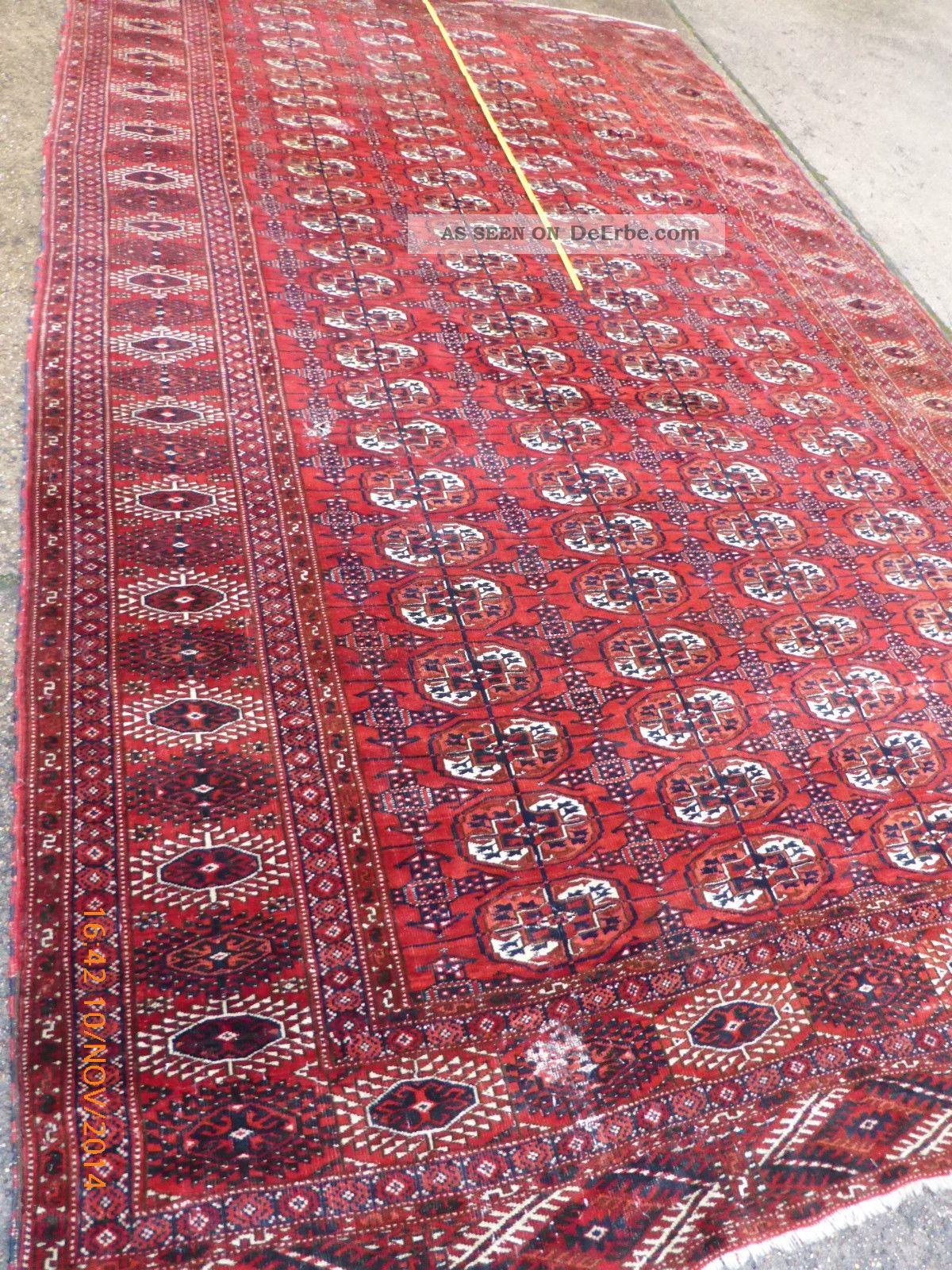 Xxl Antiker Orient Teppich Teke Buhara?turkman? 391cm