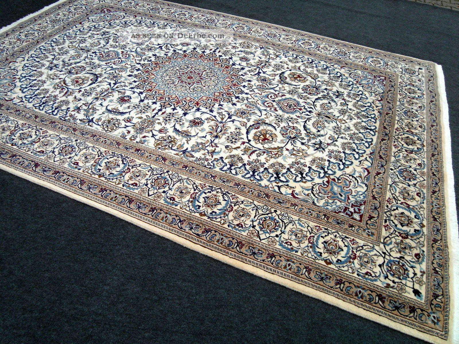 Orientteppich blau  Feiner Orient Teppich Beige Blau 364 X 249 Cm Perserteppich Seide ...