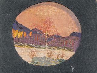 Florence Jessie Hösel Stickbild Berglandschaft Kunsthandlung Berlin Um 1908 Bild