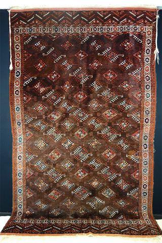 Antike Yomud Teppich - Old (yomud) Carpet Bild