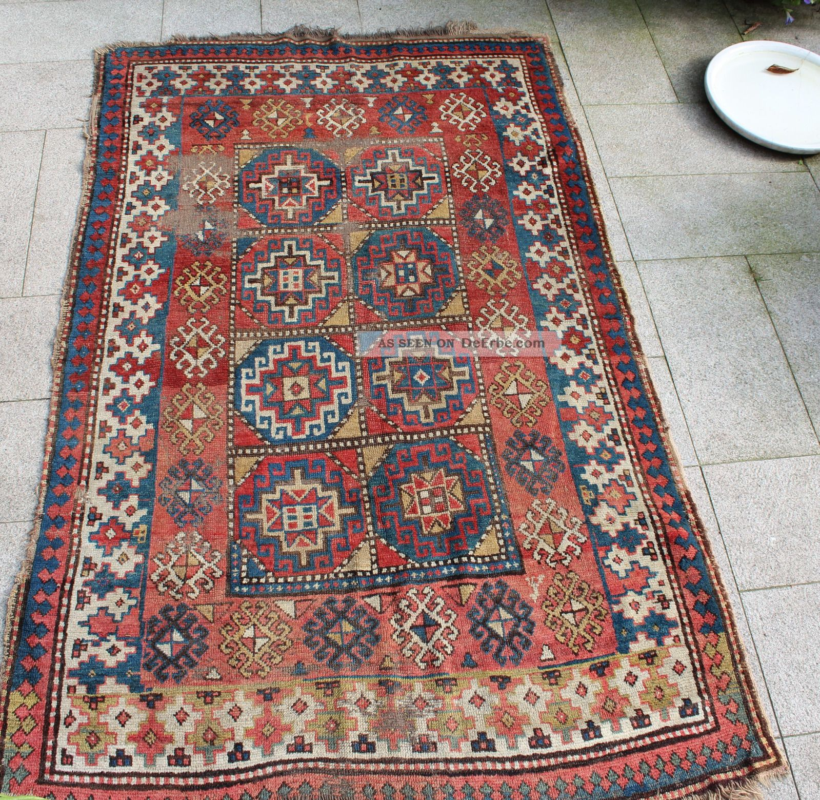 kaukasischer teppich antik 18 19 jahrhundert 220x140. Black Bedroom Furniture Sets. Home Design Ideas