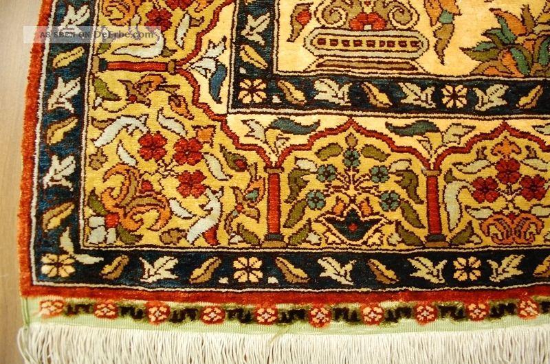 Top Seiden Teppich Hereke Istanbul Seide Alt Silk Rug Seta