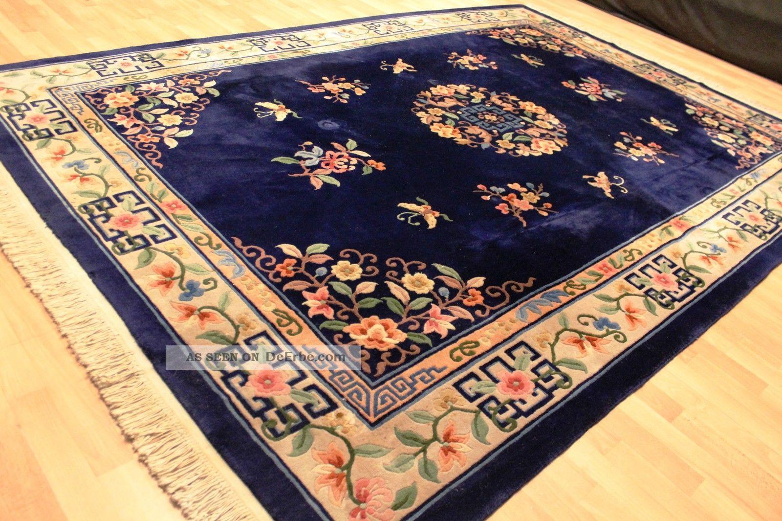aubusson art deco china teppich seiden glanz 315x220cm. Black Bedroom Furniture Sets. Home Design Ideas