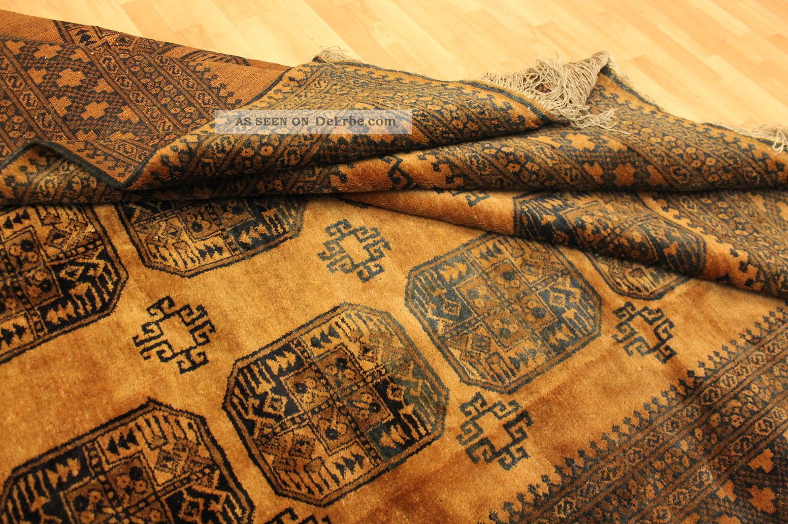 Alter Gold Afghan Buchara 320x245cm Orient Teppich Carpet Tappeto