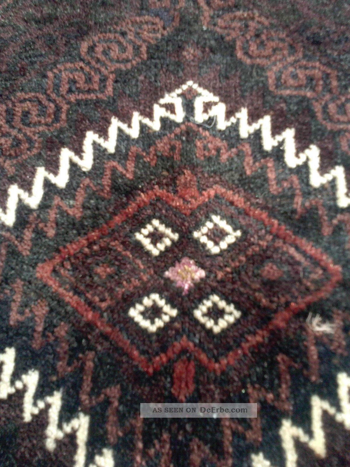 Antike Belutsch Taschenfront Mit Seide Afghanistan Ca