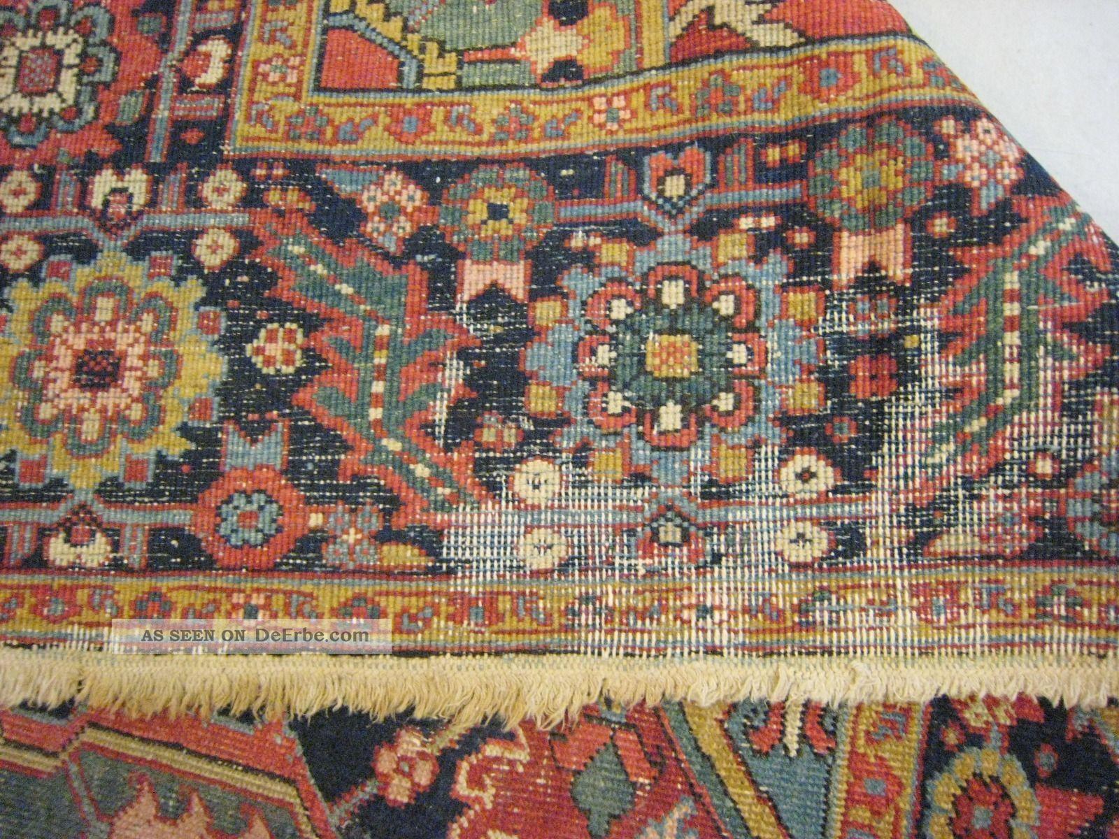 Orientteppich antik  Antik Orientteppich Heriz, 355cmx265 Cm