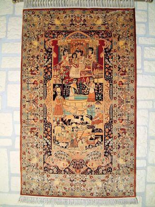 Asiatische bestickte Robe aus Seide/Brokat/Satin