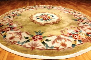 Schöner Runder Art Deco China Teppich 160cm Tappeto 3256 Carpet Rug Tappeto Bild