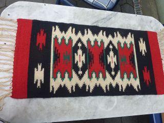 Orient Teppich Läufer Brücke Wandteppich Kelim Wolle Gewebt Ca.  37 X 78 Cm Rot Bild